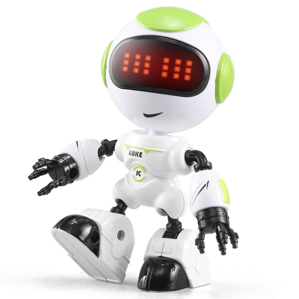 Mini RC Robot R8 LUKE Intelligent Smart Robot Touchable Control DIY Gesture  Talk Remote Control Toys