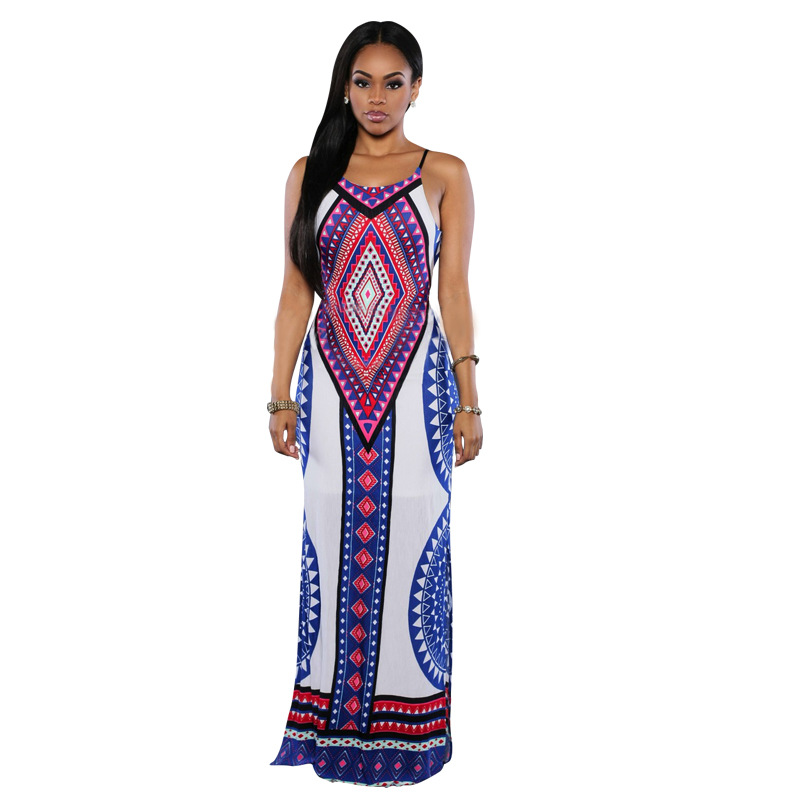 New Fashion Design African Traditional Print Dashiki Dress