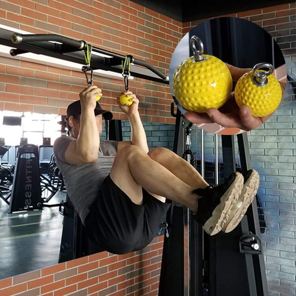 Poignées de Cannonball de renforcement de main 7.2/9.7 cm poignées de main tirez le bras d'entraînement et les Muscles du dos balle d'entraînement de doigt de poignet