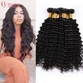 8A Xuchang Longqi Beauty Hair Brazilian Deep Wave 4 Bundles Mocha Hair Brazilian Deep Curly Virgin Hair Deep Wave Brazilian Hair
