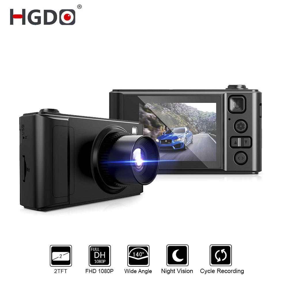 "HGDO 2"" Car DVR Mini Dash cam Full HD Car Camera Camcorder 1080P Dvrs Night Vision video Recorder Autoregister Dashcam(China)"