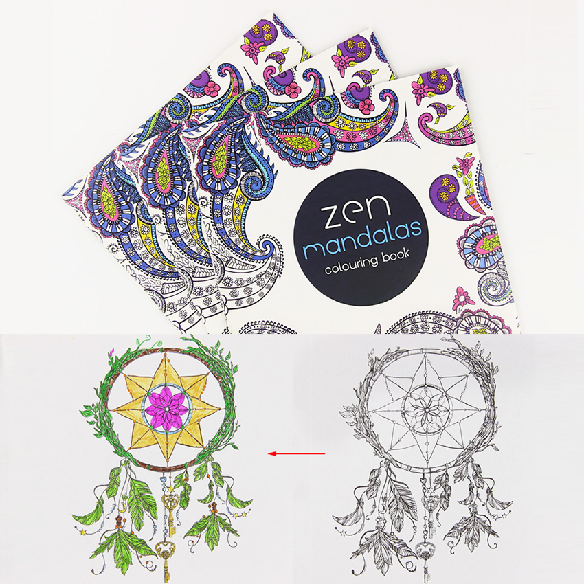 24 Pages Mandalas Flower DIY Coloring Book For Children Adult Relieve Stress Kill Time Graffiti Painting Drawing Art Books