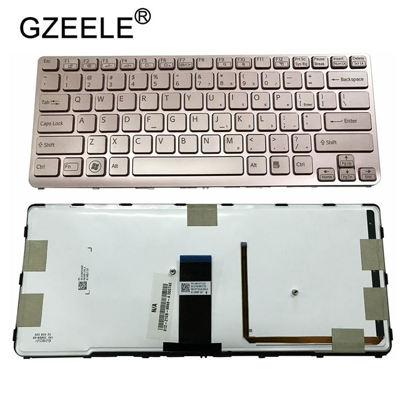 Image 3 - GZEELE US backlit new laptop keyboard for Sony VAIO SVE 14 SVE14 SVS14 SVE14A SVE14AG backlit Keyboard 149009711US 9Z.N6BBF.C01-in Replacement Keyboards from Computer & Office on