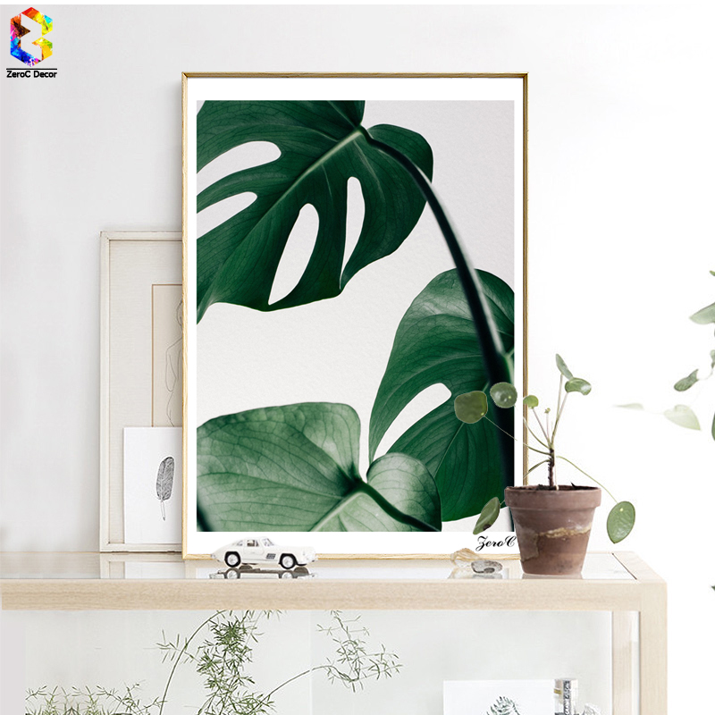 Nordic Fresh Palm Posters and Prints Wall Art Canvas Painting Pictures For Living Room Scandinavian Monstera Leaf Home Decor
