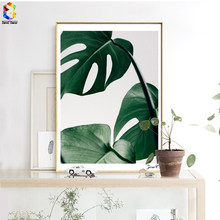 Nordic Fresh Palm Posters and Prints Wall Art Canvas Painting Pictures For Living Room Scandinavian Monstera Leaf Home Decor(China)