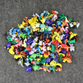144 unids/lote Figures1.3-3.5 cm Pikachu Charmander Richu Acción Mini Figuras De Plástico Tamaño Pequeño Regalo Multicolor Envío Gratis