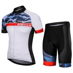 Men cycling clothing male mountain bike equipment roupa ciclismo set outdoor sports wear t shirt 5D Cushion shorts pants Custom