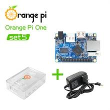 Pomarańczowy Pi One + przezroczyste etui z ABS + zasilacz, obsługiwany Android, Ubuntu, pojedyncza płyta debiana