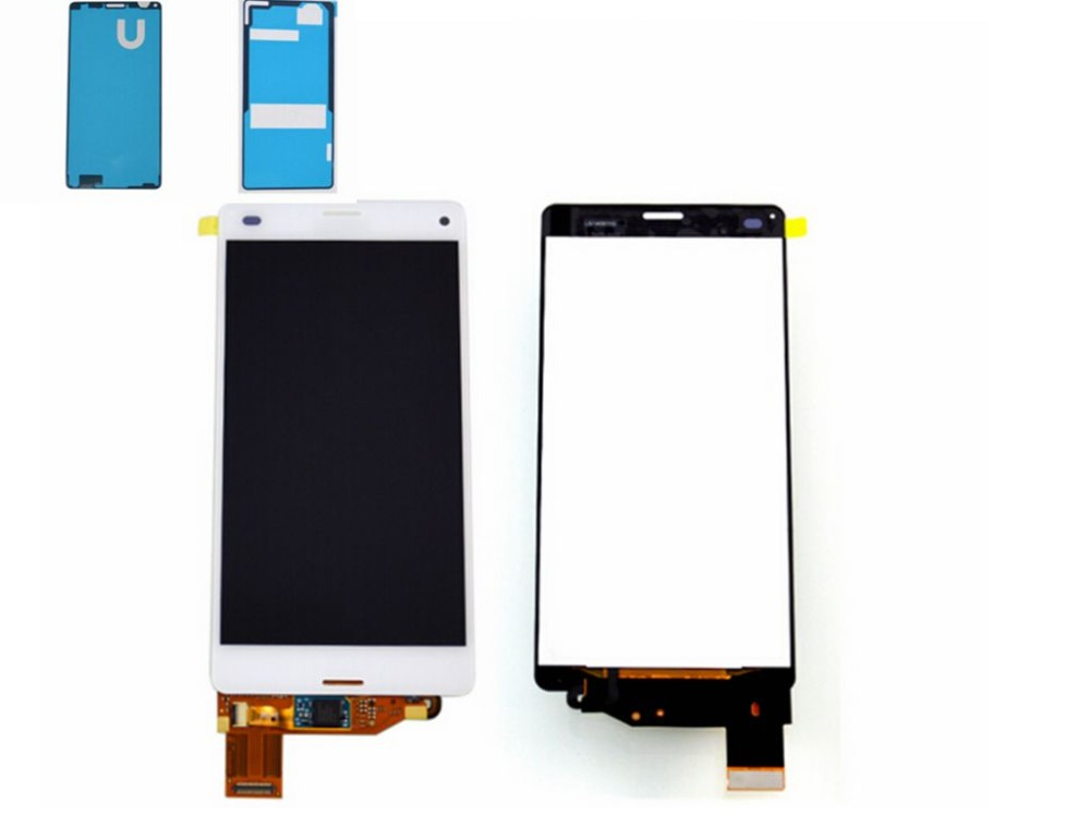 ФОТО White For Sony Xperia Z3 Mini Compact D5803 D5833 LCD Display+Touch glass Digitizer Assembly Replacement screen free shipping