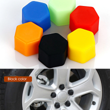 Car Styling 20Pcs Silica Gel Wheel Nuts Covers Protective Car Accessories Bolt Caps Hub Screw Protector 17# 19# 21#