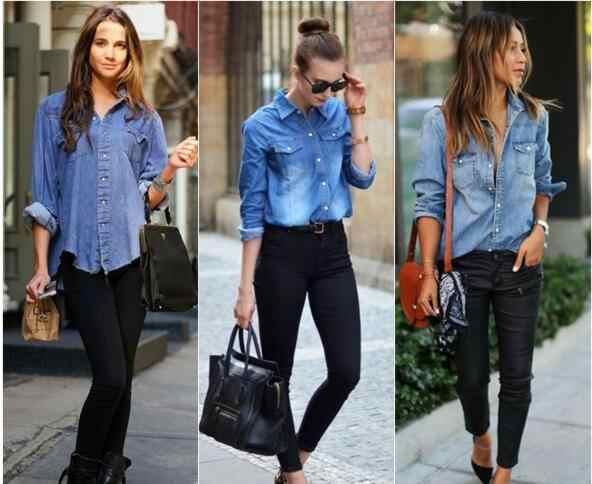 585acabe4bb ... Для женщин Джинсовые рубашки джинсы рубашка с карманами Повседневная  Джинсовая блузка для Для женщин Топы Женская ...