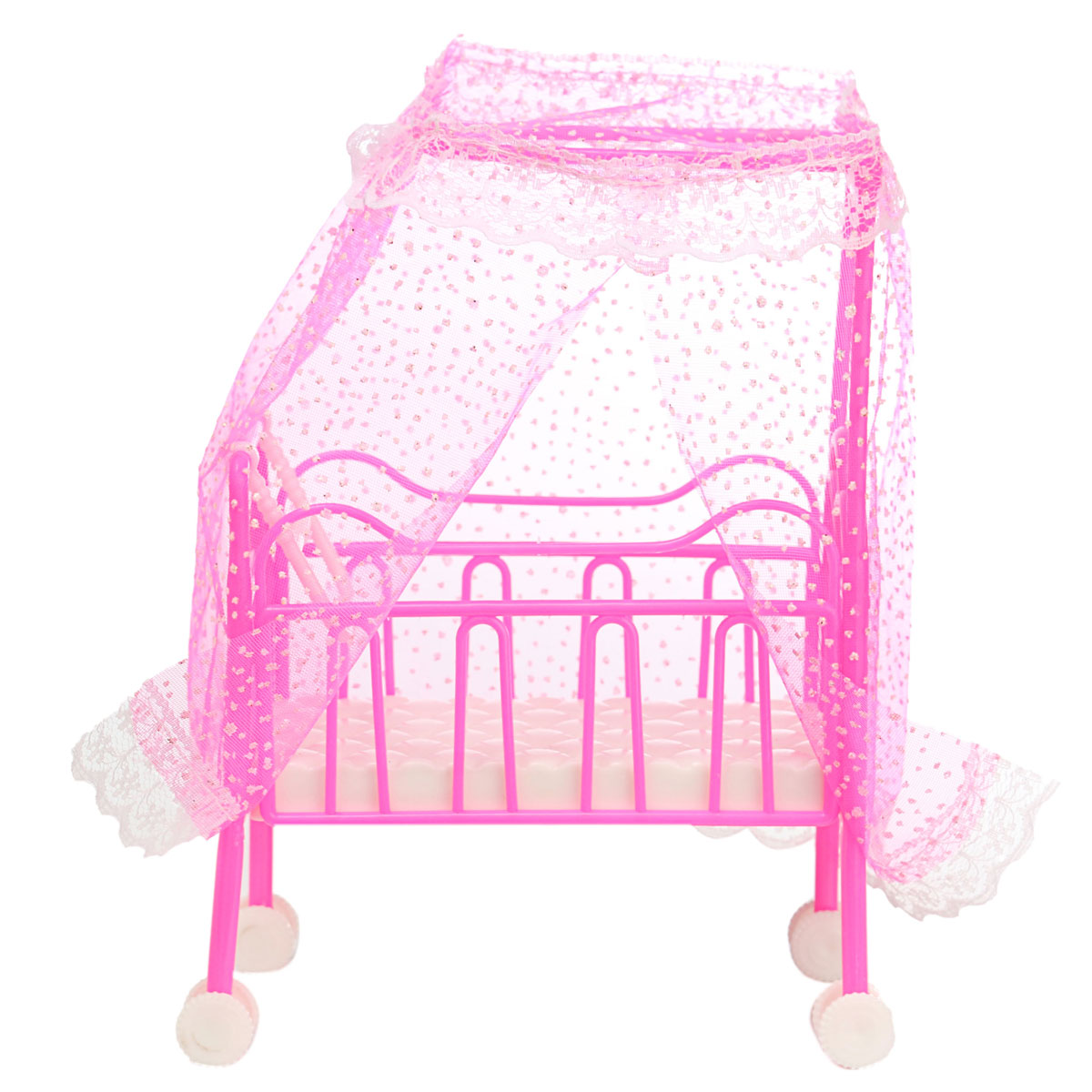 Cute Doll Baby Bed For Princess Dollhouse Plastic Mini Cute Bed Doll House  Furniture Toy Fantasy