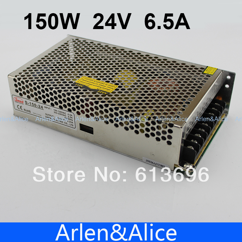 150W 24V 6.5A Single Output Switching power supply for LED Strip light AC to DC ac 85v 265v to 20 38v 600ma power supply driver adapter for led light lamp