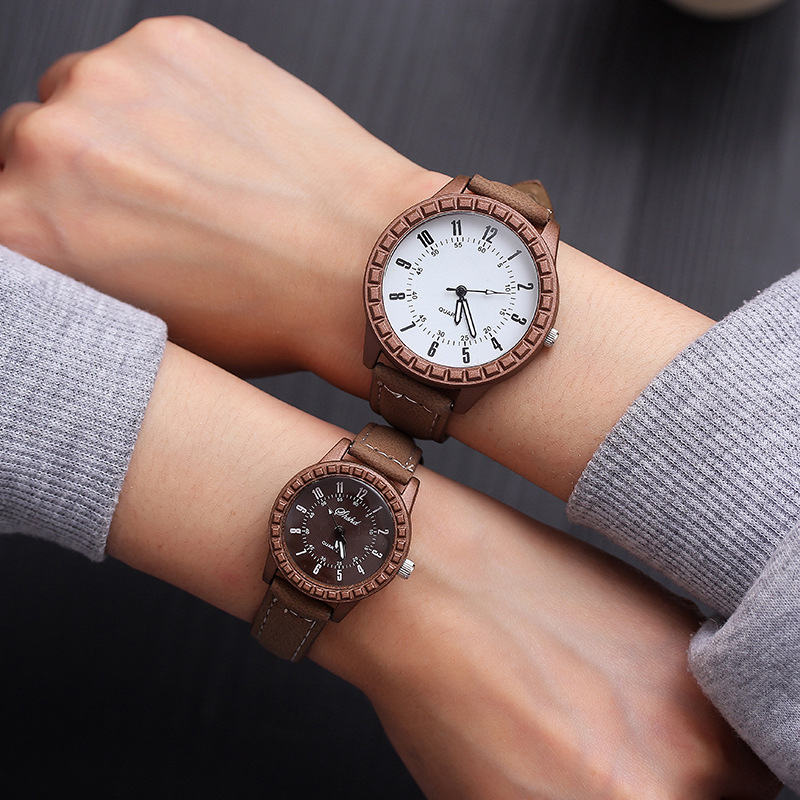 Men Women Lovers Couple Dress Quartz Wristwatch Hot Sales New Vintage Leisure Pair Watches Reloj De Pareja
