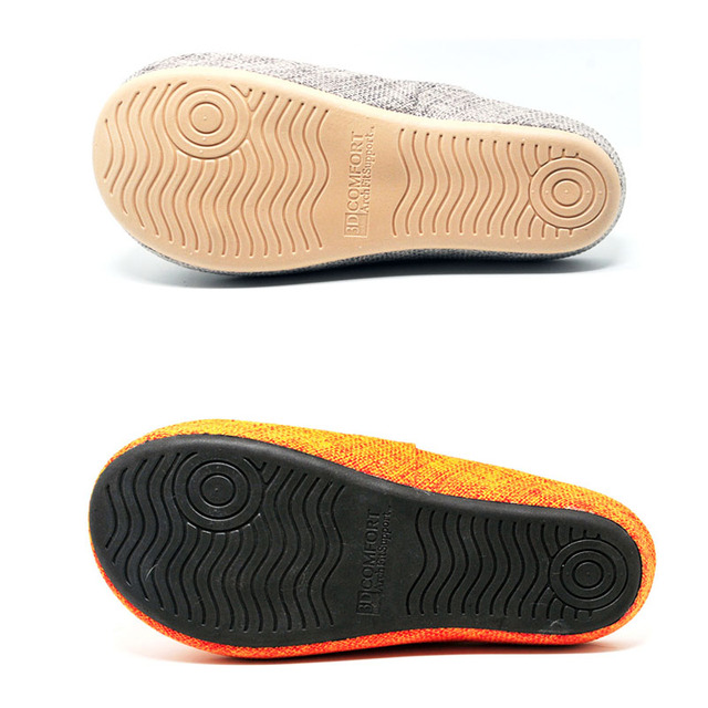 Jron Spring Autumn Woman Slipper Toes Exposed Household Cotton Sofa Fabric Slipper Water-proof Anti-slip Sole Indoor Slipper