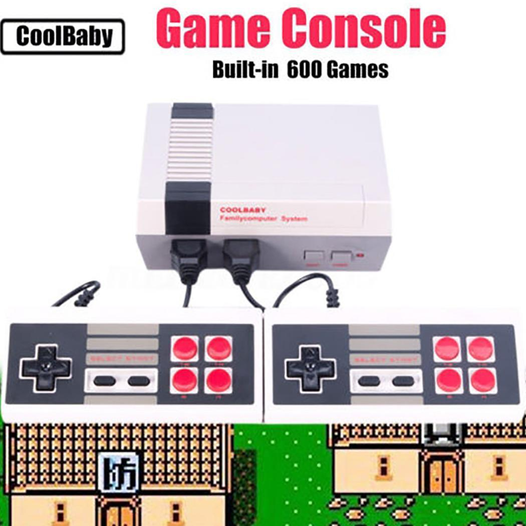 620 Games in 1 Classic Retro NTSC ABS TV Gamepads AV Output Mini Game Console with 2 Controllers Dual Wired