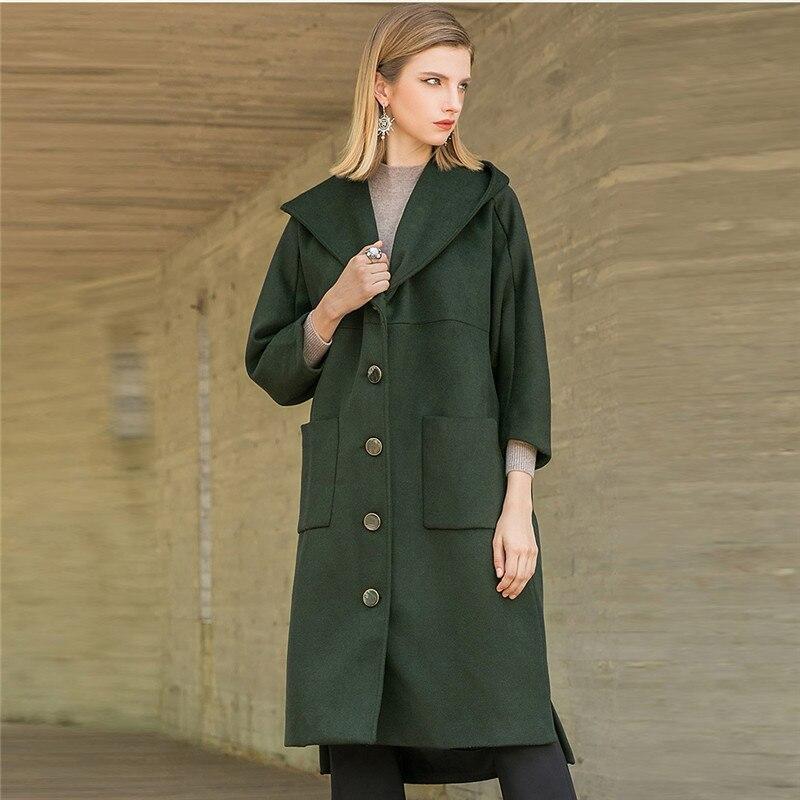 Nouveau Femmes Yy186 Hiver Survêtement Green Ligne Mode Femelle Manteau Capuche Casual De Automne Laine Droite Parka Lâche Longue XC5Hanwwq