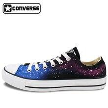Men Women Converse All Star Galaxy Original Design Hand Painted Shoes Low Top Skateboarding Shoes Man Woman Sneakers WEN Gifts