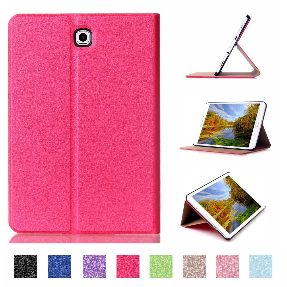 For Samsung Galaxy Tab S2 9.7 Case Book Flip Folio PU Leather Stand Cover for Samsung Tab S2 SM-T815 Sleep Wake Up Function pu leather cover case for samsung galaxy tab 2 p3100 p3110 7 inch case pc fashion polka dots with sleep wake