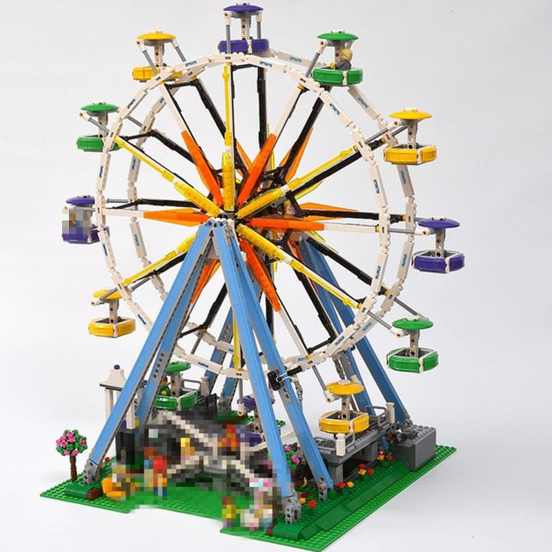 New toys kid gifts 2518pcs City Street Ferris Wheel creator streetview fit city Model Building Blocks