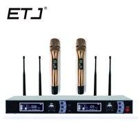 ETJ Brand TRUE DIVERSITY Professional UHF Wireless Mic Stage Performance Wireless Microphone System LX 8009