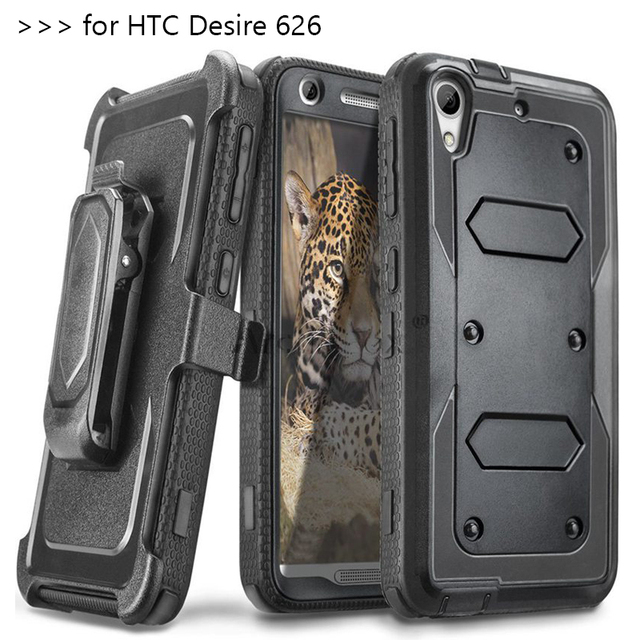 Heavy Duty Rugged Anti-strike and Shockproof Armor Phone CASE for HTC Desire 626 626W 626D 626S 626G 626G+ Cover with belt clip