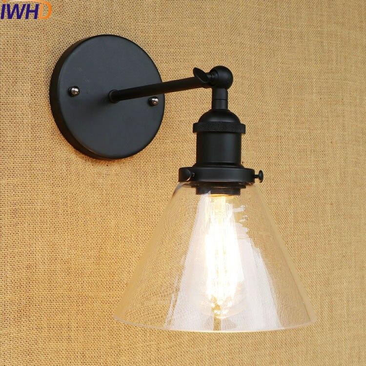 Led Lamps Iwhd Arandela Black Vintage Wall Lamp Led Retro Loft Industrial Edison Wall Sconce Light Wandlampen Luz De Parede