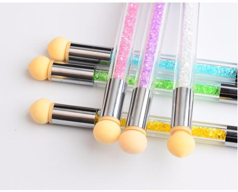 1 Pc nuevo gradiente cepillo de uñas herramienta de Arte de uñas + 4 esponja de uñas francés manicura repujado pluma Ombre pintura acrílica herramientas