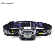 3000 LM USB Rechargeable Headlamp Waterproof Motion Sensor L2/T6 Outdoor Camping Flashlight Head Torch Lamp Bicycle Lamp