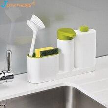 Joyathome Kitchen Bathroom Washing Sponge Storage Shelf Sink Detergent Soap Dispenser Rack Organizer Stands Ketchin