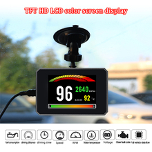 цены GEYIREN P16 OBD2 Car On-Board Computer OBD Digital Speed RPM Meter Gauge Auto Diagnostic Tool Water Temperature Voltage Alarm