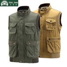 New Plus Size 6XL 7XL Brand Vest Men Double Wear Cotton Sleeveless Jac