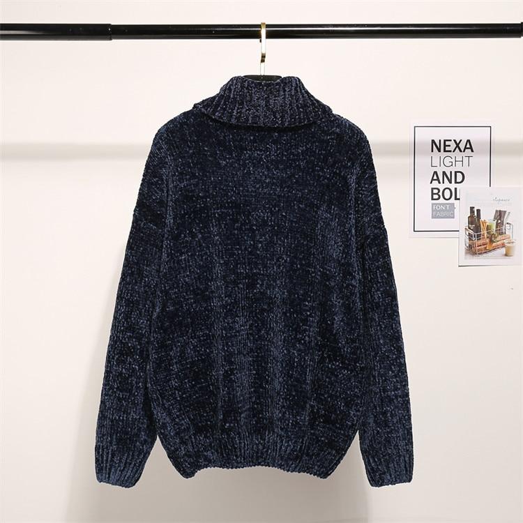 Women's Clothing New High Quality Autumn Winter Womens Port Chenille Velvet Wind Gold Velvet Neil V-neck Jumper Knitted Female