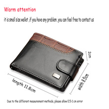 Leather Hasp Small Wallet Coin Pocket Purse Card Holder Men Wallets