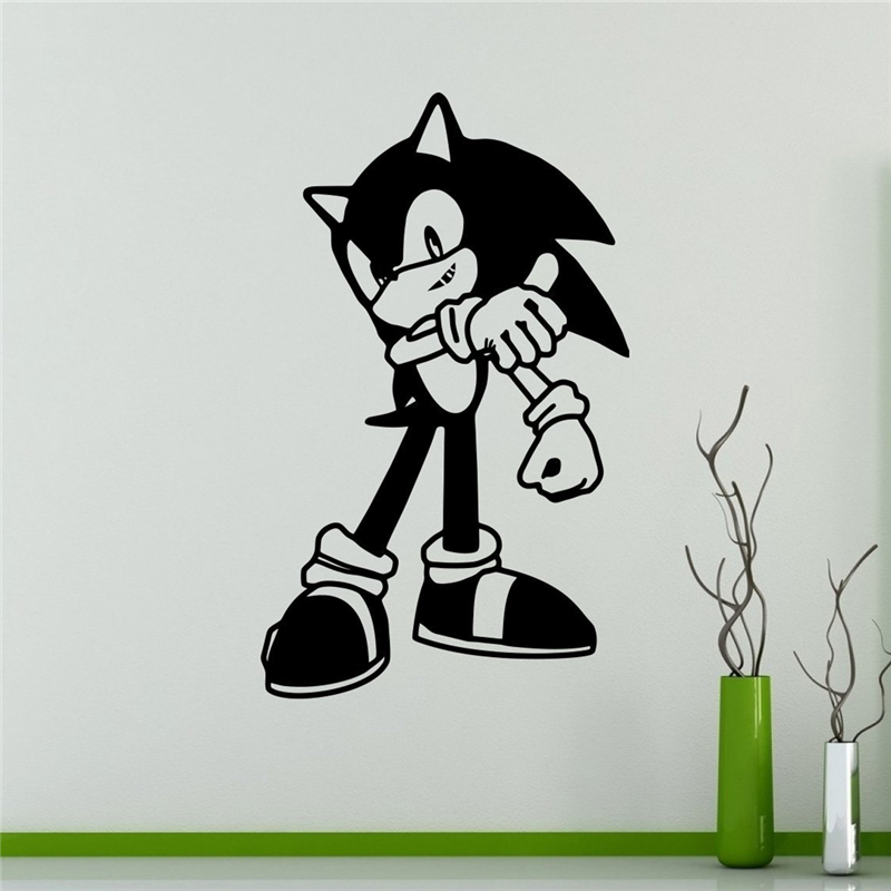 2018 Sale New Neymar Sonic Vinyl Decal Hedgehog Wall Sticker Video Game Cartoons Home Interior Children Kids Room Decor X044 Wall Stickers Aliexpress