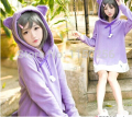 Anime Hentai Ouji to Warawanai Neko Cosplay Tsutsukakushi tsukiko Costume Kawaii Lolita Cat Ear HoodyDress New Free Shipping