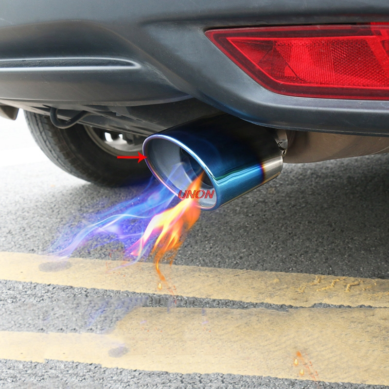Fit For Honda HRV HR-V Vezel 2014-2017 Car Cover Styling Muffler Tail Pipe outlet Dedicate Stainless Steel Exhaust Tip