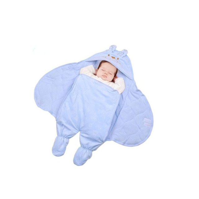 Hot Sell Newborn Cute Cotton Baby Sleeping Bag Baby Blankets Little Freaks Baby Solid Color Sleeping Bag FL