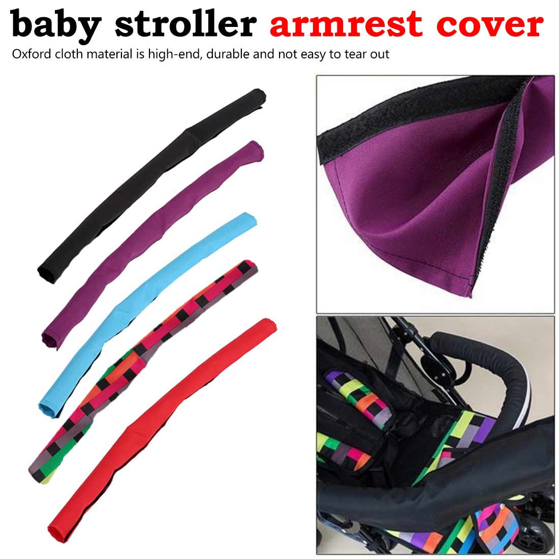 General Washable Durable Sweatproof Stroller Arms Pram Stroller Accessories Soft  Armrest Cover Cloth Case  Baby Stroller Access