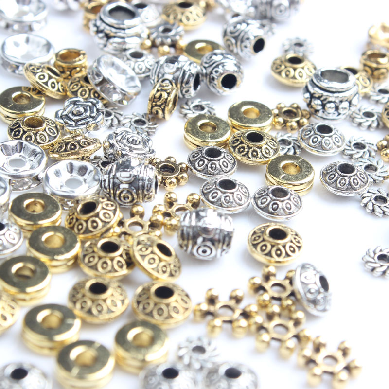 Lingxiang5mm 8mm Difer 38pcs 215pcs Differ  Every Bead Gasket  DIY Men And Women Bracelet Necklace Ankle Accessories