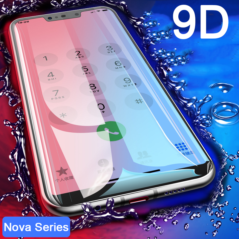 9D tempered glass for Huawei Nova 3 screen protector on the for Huawei Nova 4e Lite 3 3i 3e 2i Nova3 protective glass glas cover(China)