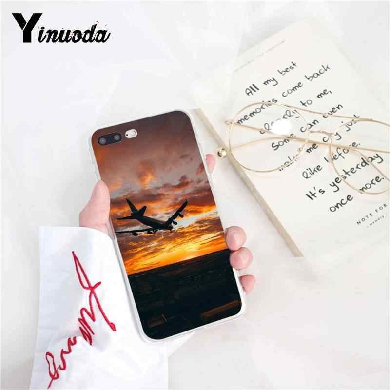Yinuoda авиационный самолет Летающий путешествия облако роскошный уникальный телефон чехол для iPhone 8 7 6 6 S Plus X XS MAX 5 5S SE XR 10 чехлов