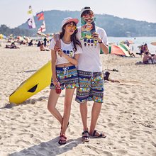 Aliexpress of high sales of beach pants The honeymoon couple beach pants Beach pants Men's beach outfit sweethearts outfit