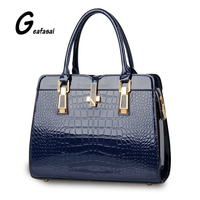 Europe And The United States Style Women PU Leather Handbags Light Leather Bag Crocodile High Grade