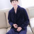Winter Autumn Thick Flannel Men's Women's Bath Robes Gentlemen's Homewear Male Sleepwear Lounges Pajamas Pyjamas Plus Size XXXL