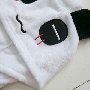 Image 5 - Kigucosオールインワン冬暖かいパジャマ漫画ユニコーンonesiesワンピーススパースターフード付きパジャマkugurumi動物パジャマ女性のための