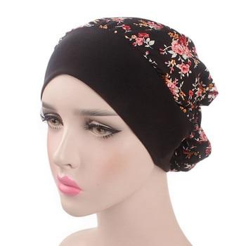 Muslim Turban Women Headband Ruffle Cancer Chemo Hair Hats Beanie Bandanas Scarf Head Wrap Headwear Fitness Workout Cap PJ0823 Бюстгальтер