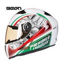 2017 winter New EU ECE Authentication BEON Full Face Motorcycle Helmet B500 Motorbike Helmets Made of ABS have 19 kinds colors