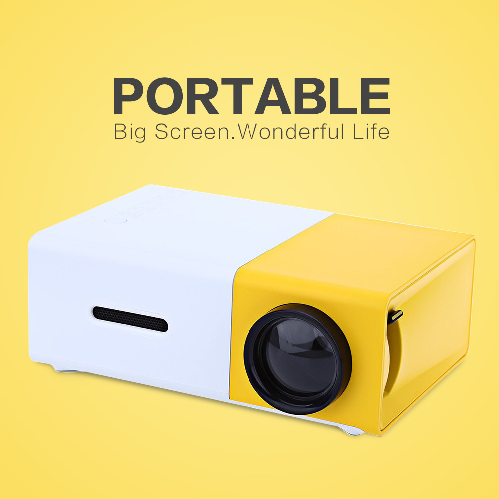 New arrival yg300 led portable projector 400 600lm for Portable video projector