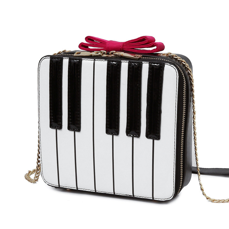 Aliexpress.com : Buy women bow The black and white key Bags ...